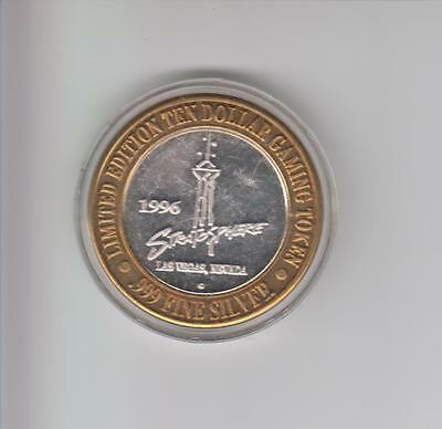 Stratosphere Casino .999 Fine Silver Limited Edition Gaming Token