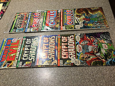 Lot of 8-Crypt of Shadows, Vault of Evil, Chamber of Chills 2,3,17,4,5,6..Marvel
