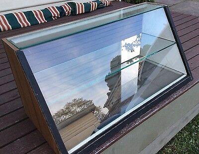 Countertop/shop/display Cabinet  Glass Front. Open Back