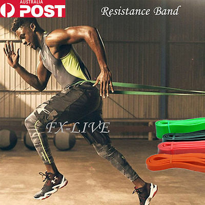 Set Power Heavy Duty Resistance Band Gym Yoga Loop Exercise Fitness Workout