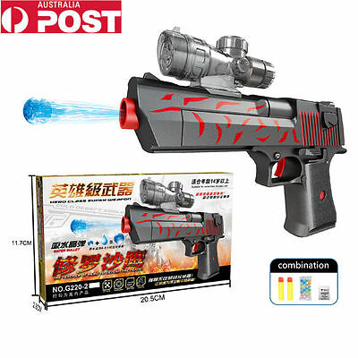 2 in 1 Water Crystal Gun Paintball Soft Ball Bullet CS Game Toy Gift AU