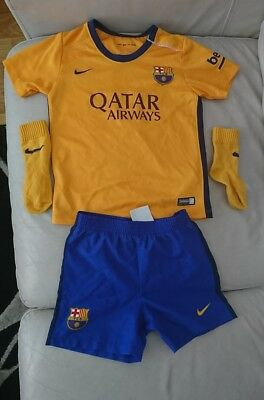 Authentic FC Barcelona Away Football Kit. Age 2-3 years