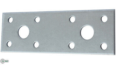 50 Hole plates Flat Connector Hole Plate 100x35x2,5 mm Silver Galvanized