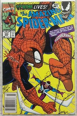 Amazing Spider-Man #345. 2nd app Carnage (1991 Marvel) FN/VF condition