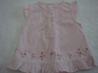 Carters Baby Girl Top Size 12 Mths