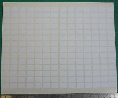 196 Sticker Label Small 9x13 mm White Price Tag Blank Marker Self Adhesive