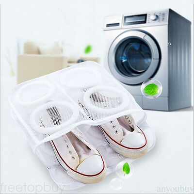Laundry Bag Shoes Storage Washing Drying Mesh Net Home Washer Separated Pouch PO