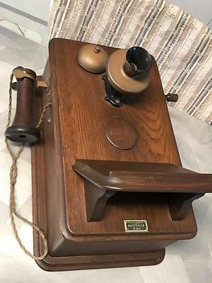 Old Retro Industrial Vintage Antique Australian Pmg Wall Telephone