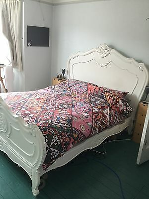 Antique  Vintage  Style  Distressed  Double  Bed  Shabby  Chic And Mattress