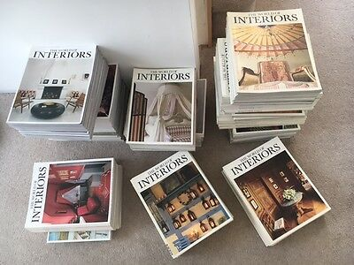 THE WORLD OF INTERIORS Magazines x 134
