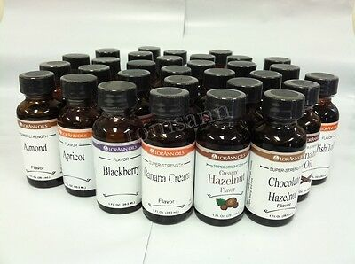 LorAnn Super Strength Flavors 1 oz flavoring cake candy baking oils extracts A-L