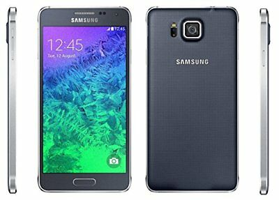 NEW BOXED Samsung Galaxy Alpha SM-G850F - 32GB BLACK Unlocked Smartphone