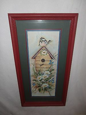 Home Interiors '' Birdhouse & Daisy '' Picture  Gorgeous   12''x 22''
