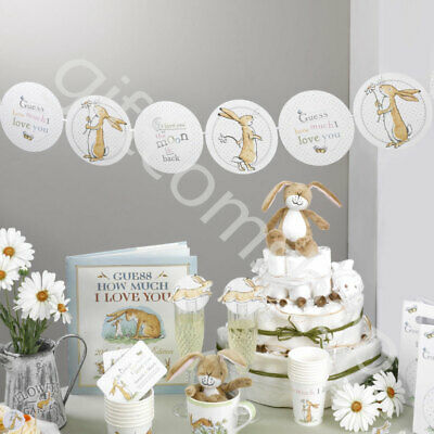 Guess How Much I Love You Unisex Baby Shower Party Decorations Neutral Tableware