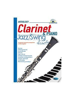 Jazz Swing Duets for Clarinet & Piano Play MUSIC BOOK & CD Clarinet Piano