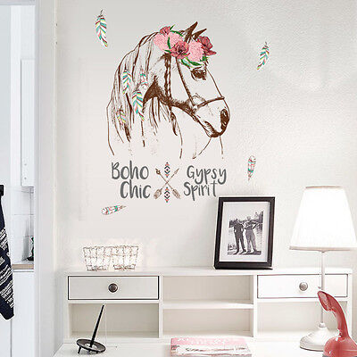 Art Horse Wall Stickers Removable Vinyl Mural Decal Home Room Office Decor DIY