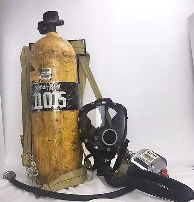 Vintage Scott SCBA Firefighter Air Pak Pack II Old School W/ Mask. Free Shipping