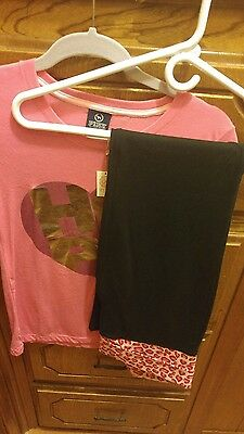 victoria set pink shirt and pant size medium new with tags