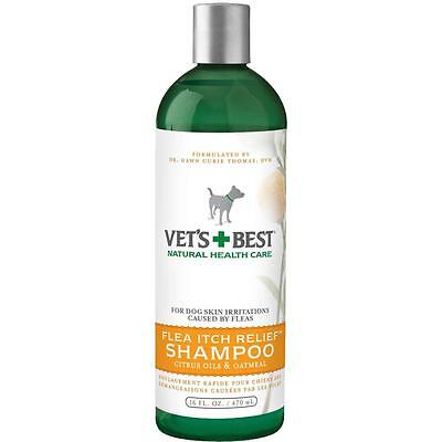 Vet's Best Flea Itch Relief Shampoo - fast flea relief for dogs 470ml (16floz)