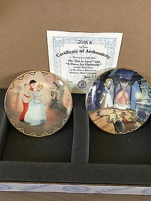 Disney Mini Plate Collection- Cinderella Set Of Two