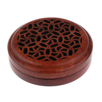 Traditional Wooden Incense Stick Holder Box Inlay Cone Burner Ash Catcher
