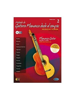 Metodo de Guitarra Flamenca desde el Compás Volume 2 GUITAR TAB MUSIC BOOK & CD