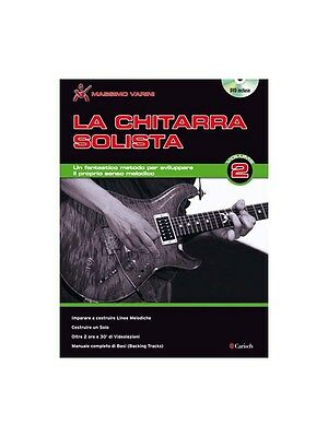 La Chitarra Solista Volume 2 Learn to Play Present MUSIC BOOK & DVD Guitar