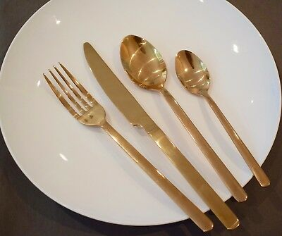 High Quality Gold Stainless Steel Cutlery/Flatware - 16 PCS Wedding or Christmas
