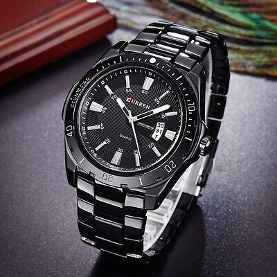 CURREN Luxury Men's Quartz Stainless Steel Date Display Waterproof Wrist Watch