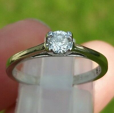 """18CT WHITE GOLD """"FOREVER"""" DIAMOND RING - 27pts - RRP £1,250"""