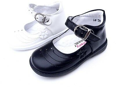 New baby toddler girls mary jane leather shoes black,white color size 4,5,6