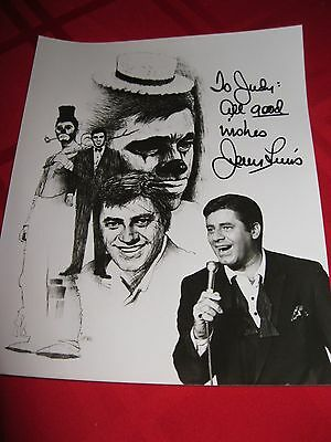 Jerry Lewis autographed Jerry Lewis signed 8x10 Photo Personalized To Judy