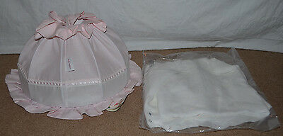 Picci tenera Petra White/Pink Crown Canopy for Baby Girls Crib Bed Nursery