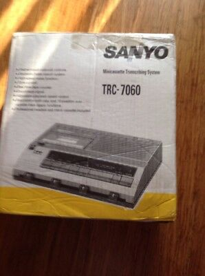 Sanyo Trc-7060 Mini Cassette Transcribing System In Original Box