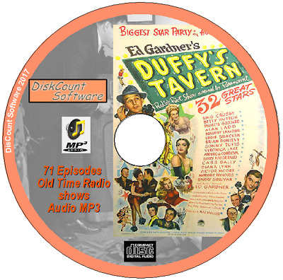 Duffy's Tavern - 71 episodes, popular American radio situation comedy OTR MP3 CD