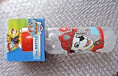 PAW PATROL 9 ounce Baby Bottle, BPA Free New package, MARSHALL Hero Rescue Pup