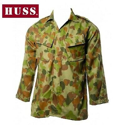 Auscam Shirt Long Sleeve Bdu Tactical Pocket Military Army Clothing NEW..