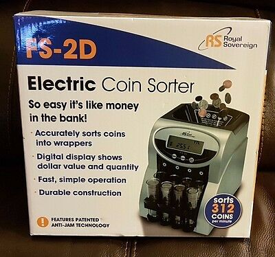 Digital Money Coin Counter Commercial Automatic Sorter Fast Counting Machine