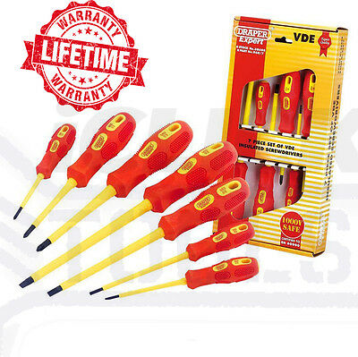 Draper Expert VDE Electricians Screwdriver Set Tool Electrical Insulated 88608