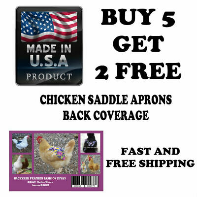 BOGO 5+2 FREE  Chicken Saddle Apron Hen BACK FEATHER PROTECTION BACKYARD POULTRY