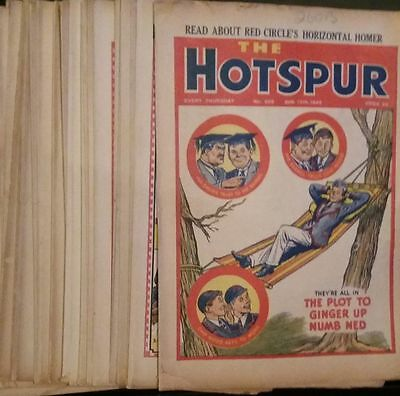 THE HOTSPUR 34 different issues from the 1940s, mainly war years VGC