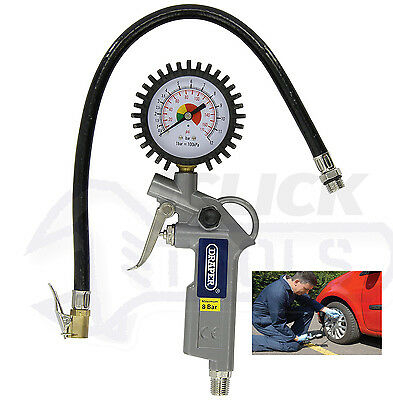 Draper 10604 Airline Car Tyre Inflator with Air Pressure Gauge For Compressor