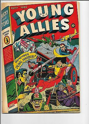 Young Allies #3 Recil Macon pedigree Captain America app. Remember Pearl Harbor