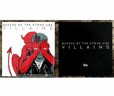 QUEENS OF THE STONE AGE Villains 2017 Ltd Ed RARE Sticker +FREE Stickers! QOTSA