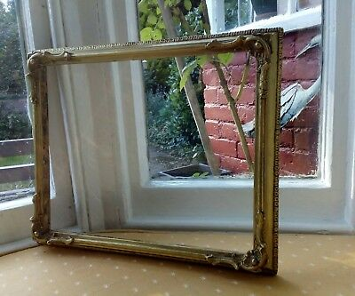 Antique Vintage Gilt Picture Frame Shabby Chic Country House Style (At104)