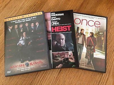 Lot of 3 DVDs with top-notch acting- Suicide Kings, Heist, Once