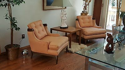 PAIR of 1950's Tomlinson Sophisticate Slipper Lounge Chairs Mid Century Modern