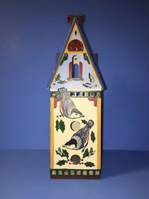 Lenox Winter Greetings Metal Tealight Candle House Nuthutch Catherine McClung