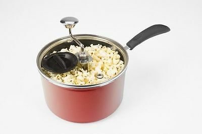 Popcorn Maker 3.8 Litre Non-stick Stovetop Red
