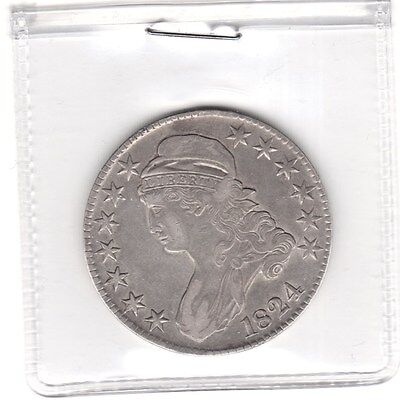 1824 50C Capped Bust Half Dollar / xf / look !!!!!!!